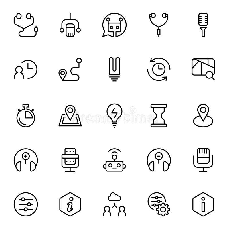 Lägenhetsymbol för teknisk service royaltyfri illustrationer