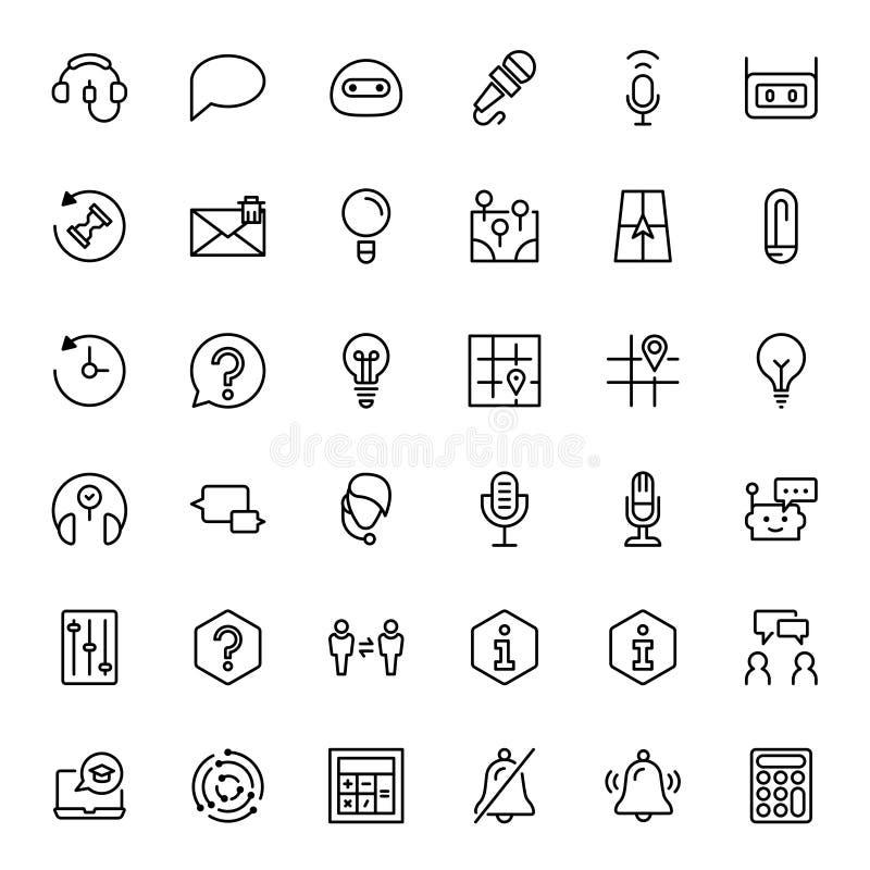 Lägenhetsymbol för teknisk service stock illustrationer