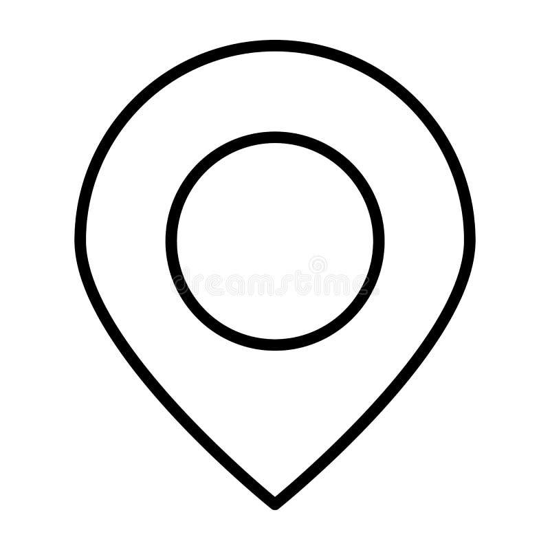 Lägepekarelinje symbol Enkel minsta Pictogram 96x96 för vektor stock illustrationer