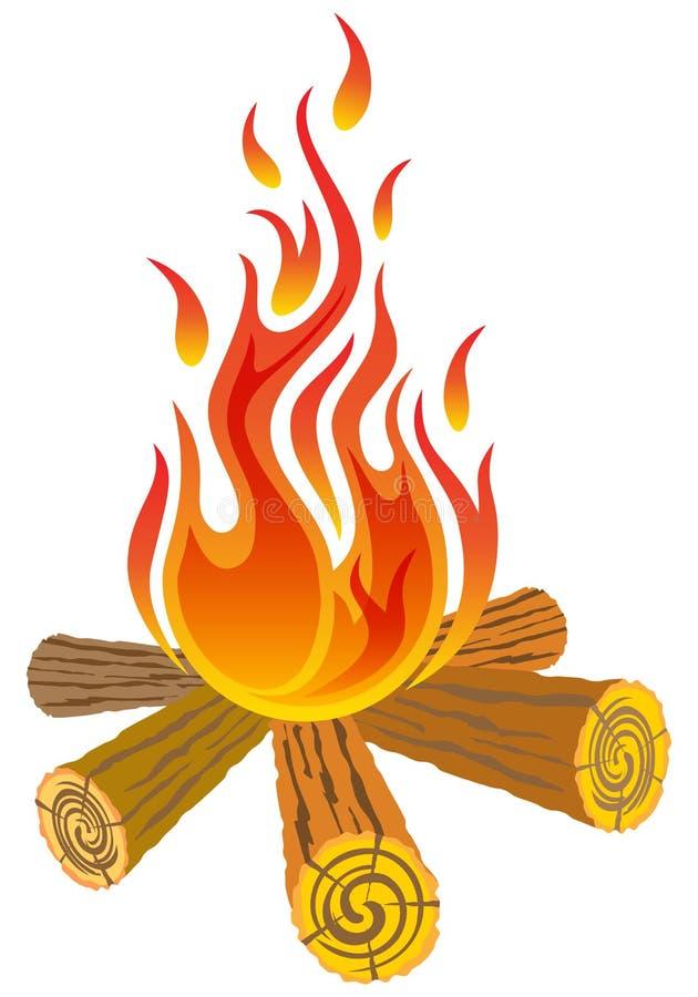 Lägerbrand stock illustrationer