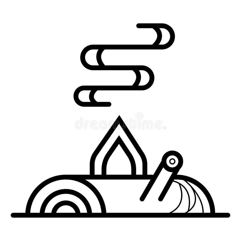 Lägereldsymbolsvektor stock illustrationer