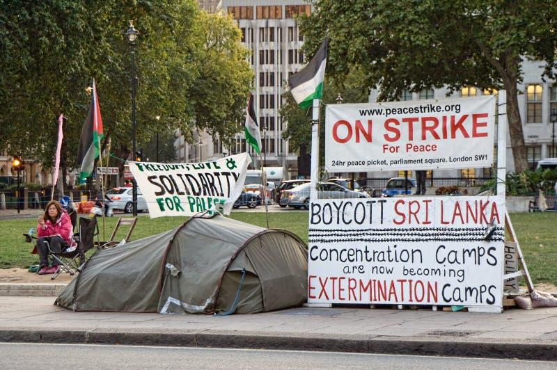 lägerkoncentrationsprotest fotografering för bildbyråer