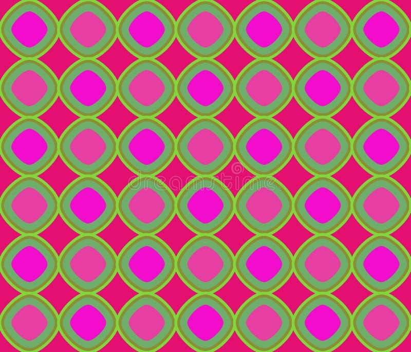 lägga över för gröna losanges för konst magentafärgat op stock illustrationer