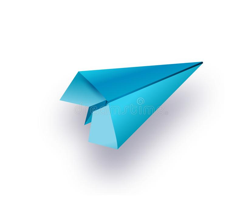 Lägga framlänges av den blåa pappers- nivån och tomt papper på pastellfärgad vit färgbakgrund royaltyfri illustrationer