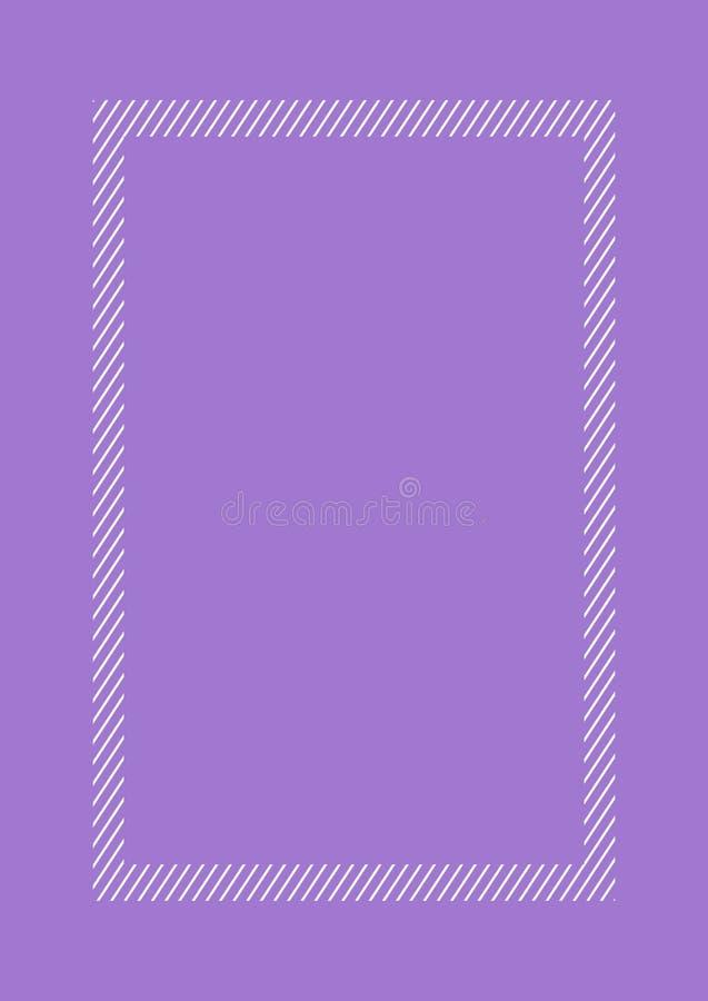 Lägger den purpurfärgade färglägenheten för den trendiga ramen stil och rektangeln för kopieringsutrymme, den tomma ramlila vektor illustrationer