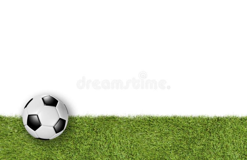 Lägre tredje för fotbollfält på vit bakgrund royaltyfri fotografi
