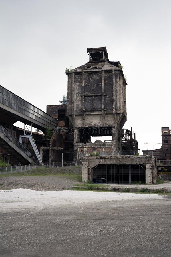 Lägre Vitkovice områdesDolni oblast Vitkovice, Ostrava, Tjeckien/Czechia arkivbild