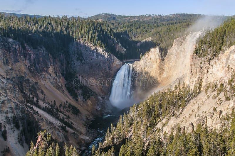 Lägre Yellowstone Falls arkivbild
