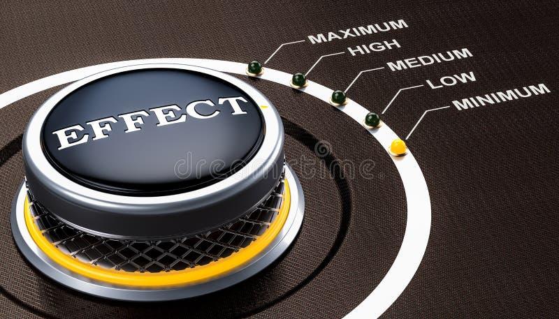 Lägst nivå av effektbegreppet, knopp framförande 3d vektor illustrationer