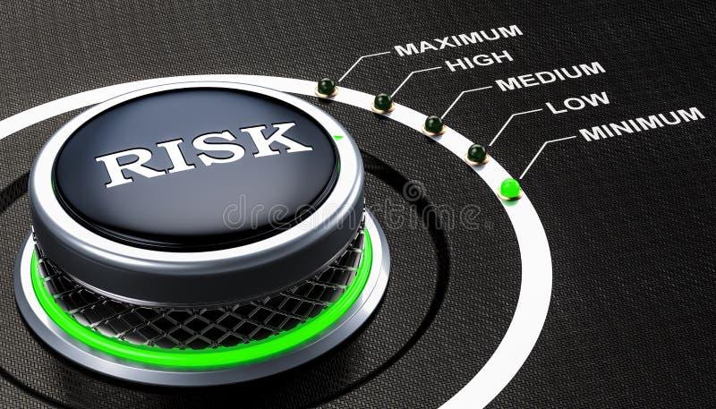 Lägst nivå av riskbegreppet, knopp framförande 3d royaltyfri illustrationer