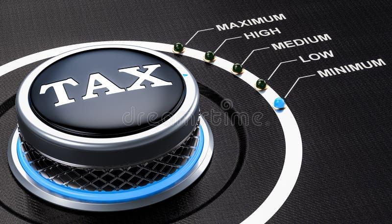 Lägst nivå av skattbegreppet, knopp framförande 3d royaltyfri illustrationer