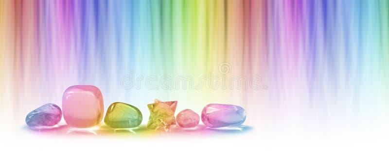 Läka kristaller och färg som läker websitetitelraden royaltyfria bilder