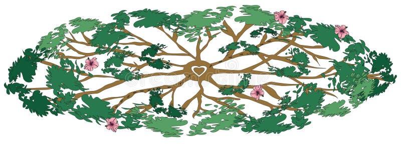 läka tree stock illustrationer