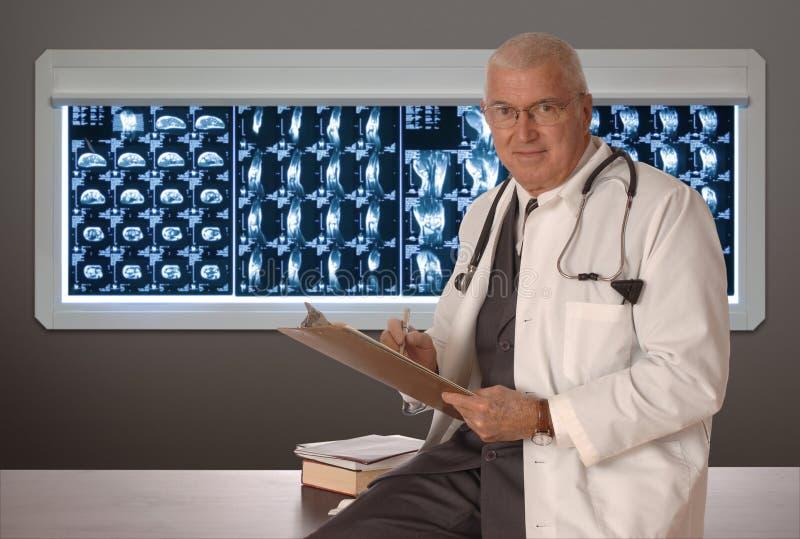 läkarewhite arkivbilder