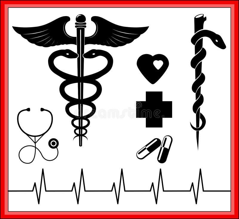 läkarundersökning royaltyfri illustrationer