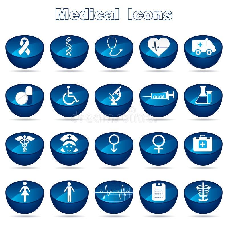 Läkarundersökning eller sjukvård vektor illustrationer