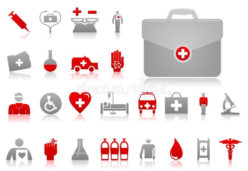 läkarundersökning icons4 vektor illustrationer