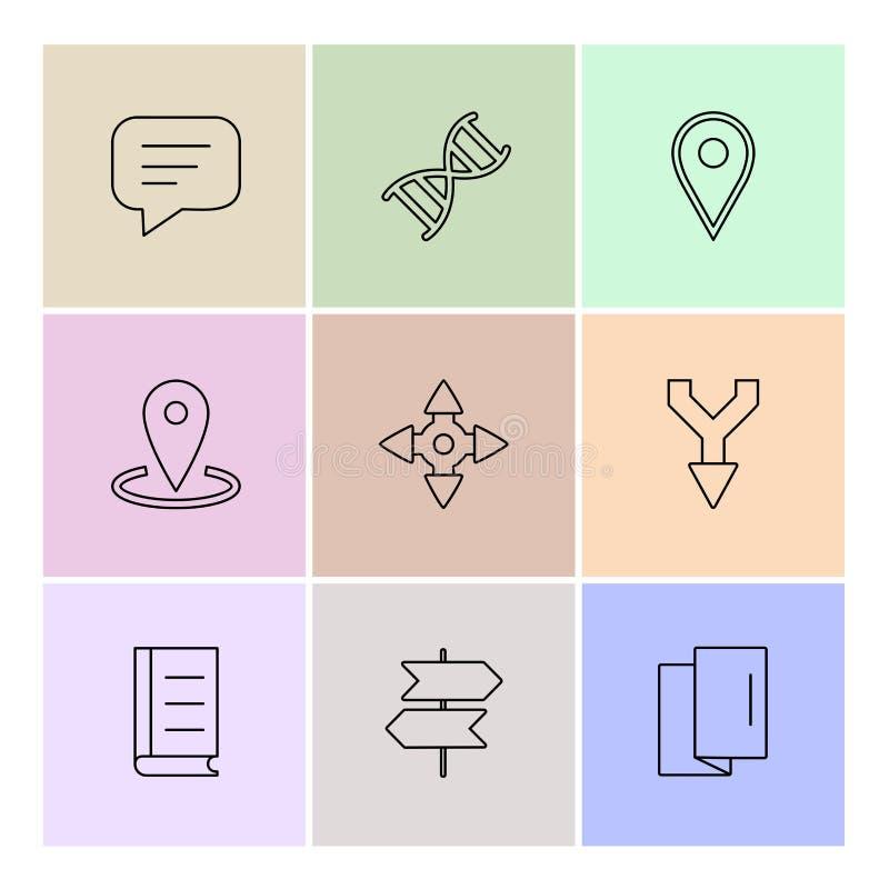 läkarundersökningen hälsa, navigering, konversation, eps-symboler ställde in vec royaltyfri illustrationer