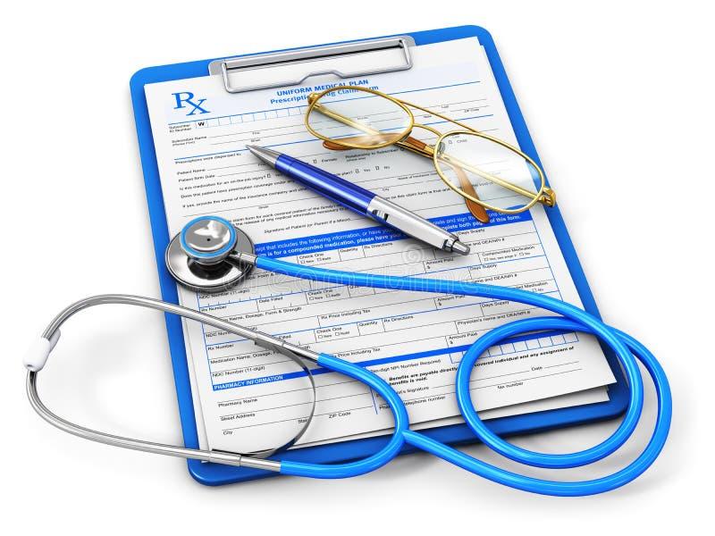 Medicinsk försäkring och sjukvårdbegrepp vektor illustrationer