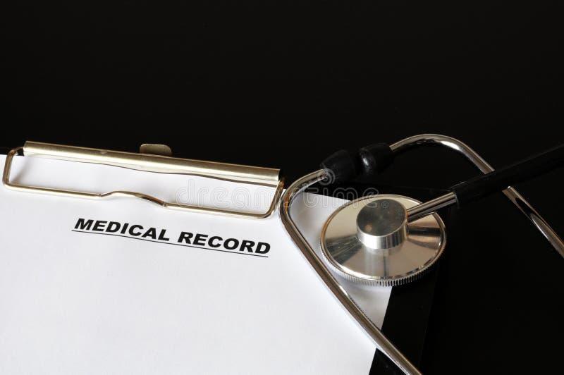 läkarundersökningregister royaltyfria bilder