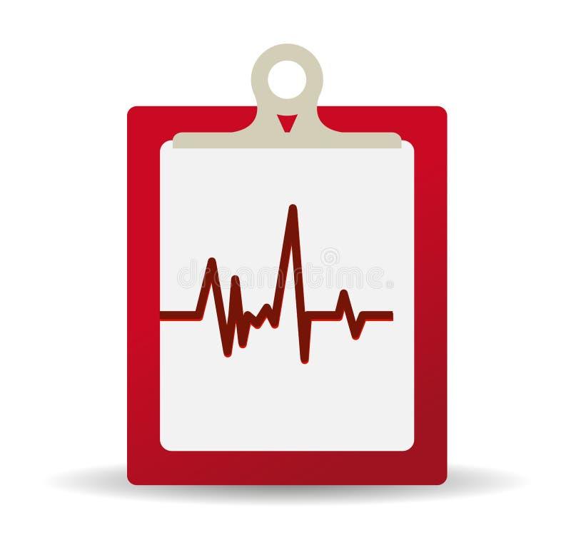 läkarundersökningregister stock illustrationer