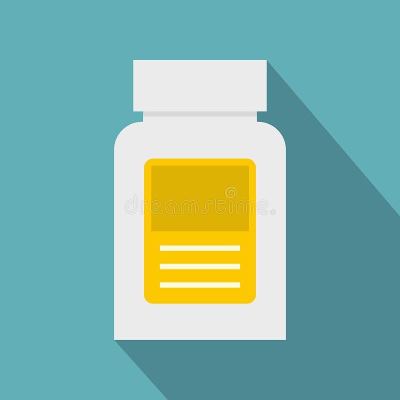 Läkemedelflasksymbol, lägenhetstil vektor illustrationer
