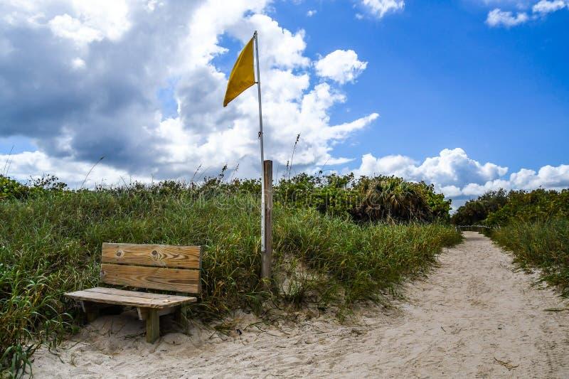 Lämna stranden royaltyfri bild