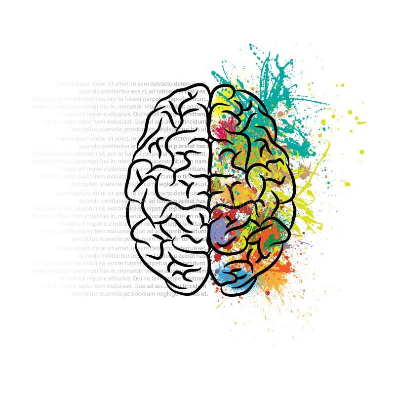 Lämnad hjärna och rätt royaltyfri illustrationer