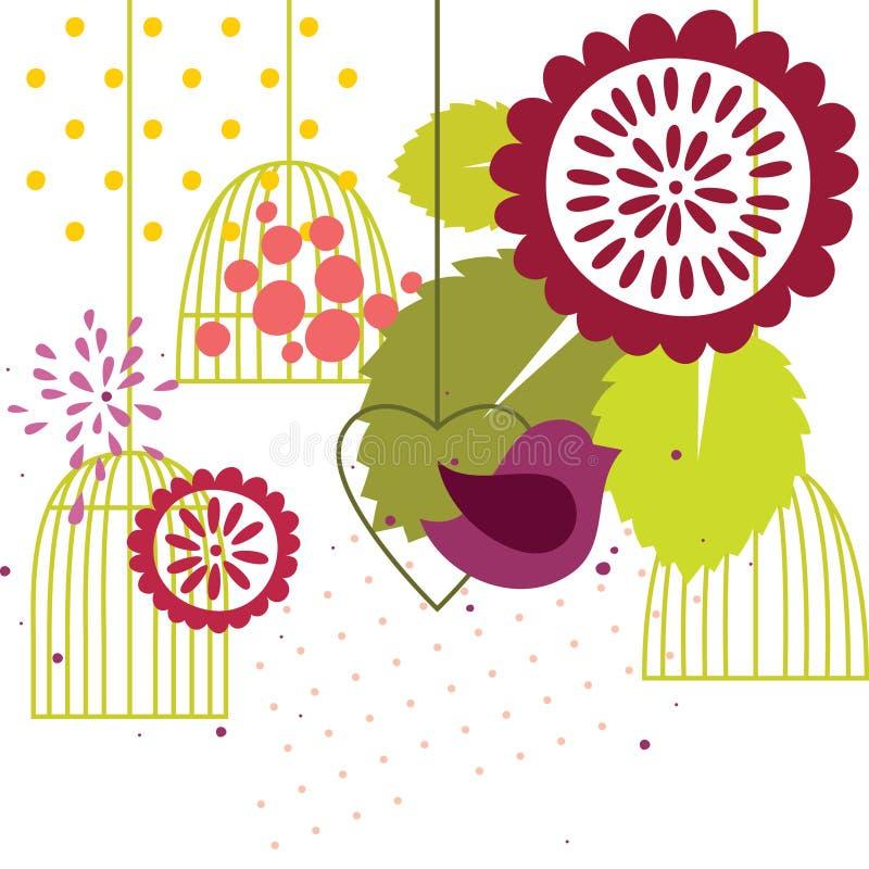 Blom- bakgrund för vektor royaltyfri illustrationer