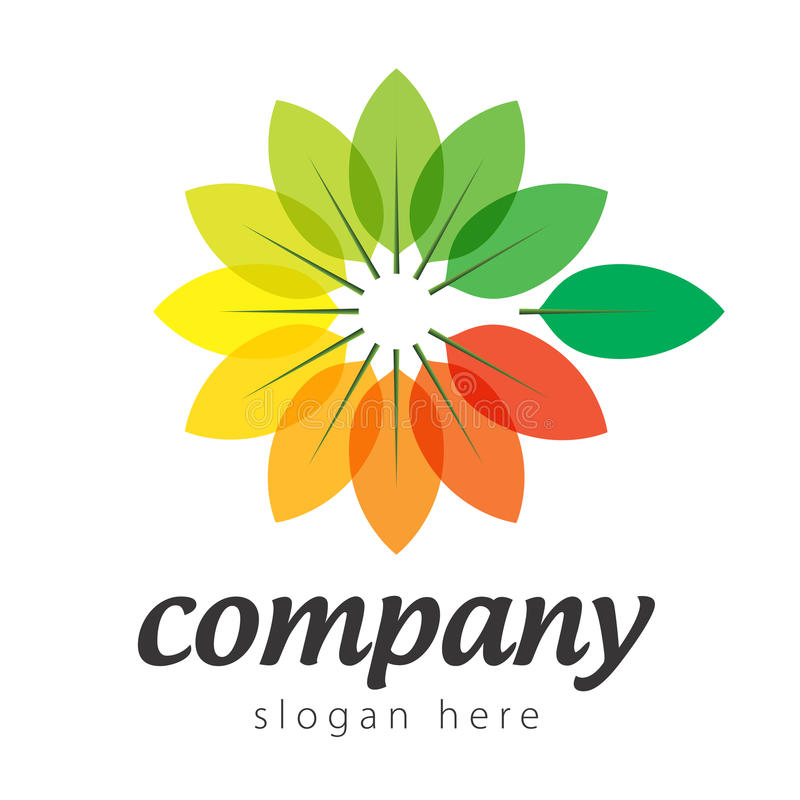 Färgrika växter för logo vektor illustrationer