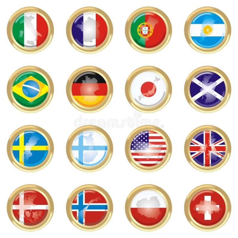 länder royaltyfri illustrationer