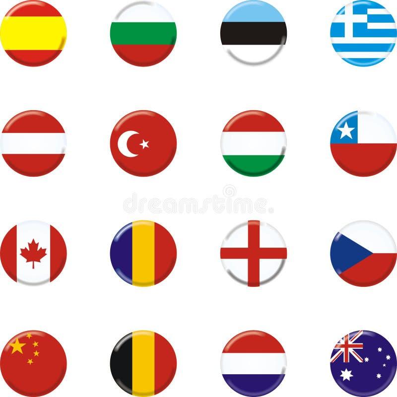 länder vektor illustrationer