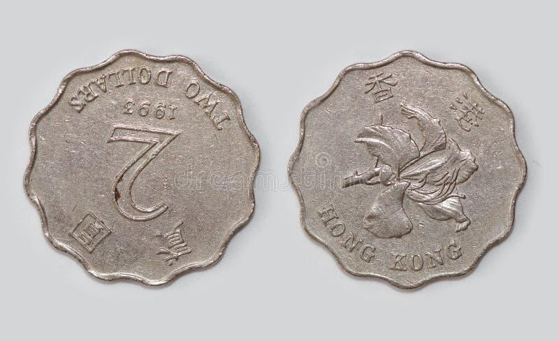 Länder ` alte Münzen, Hong Kong lizenzfreies stockbild