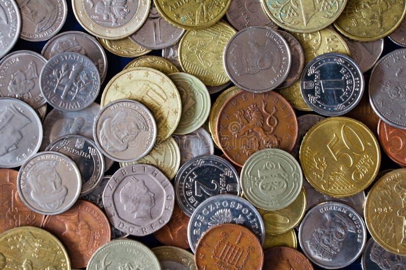Länderför differentför CoinbackgroundÂfromSamlingför Coinfotografering för bildbyråer