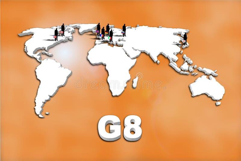 Länder G8 vektor abbildung