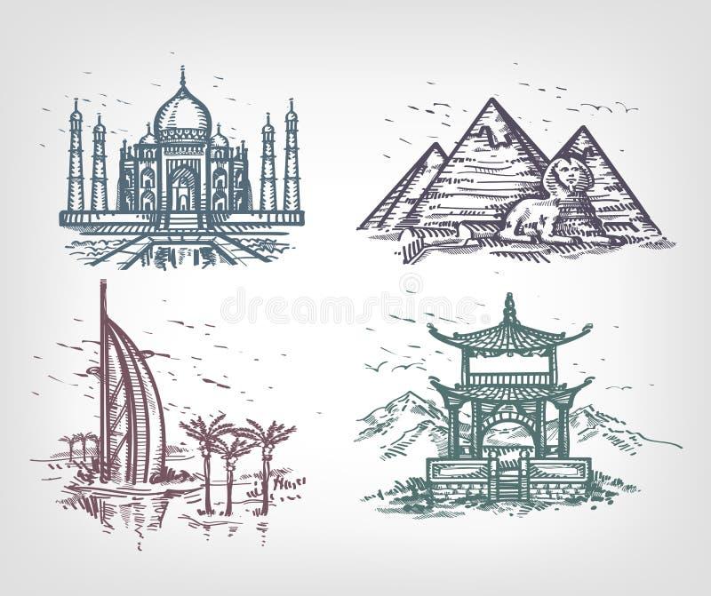 Länderna av världen. royaltyfri illustrationer