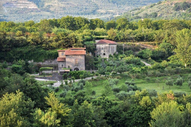 Ländliche Landschaft in dei Goti Sant 'Agata lizenzfreies stockfoto