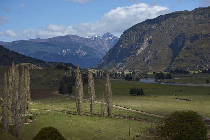 Ländliche Landschaft entlang dem Carratera Austral lizenzfreie stockfotografie