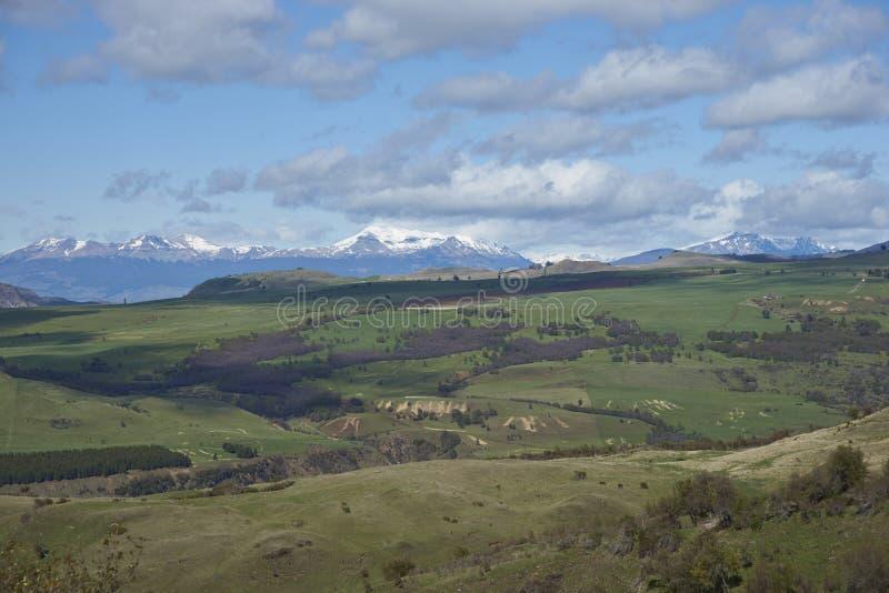Ländliche Landschaft entlang dem Carratera Austral lizenzfreies stockbild