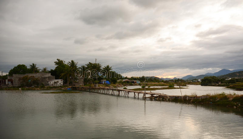 Ländliche Landschaft in Phan schellte, Vietnam lizenzfreies stockbild