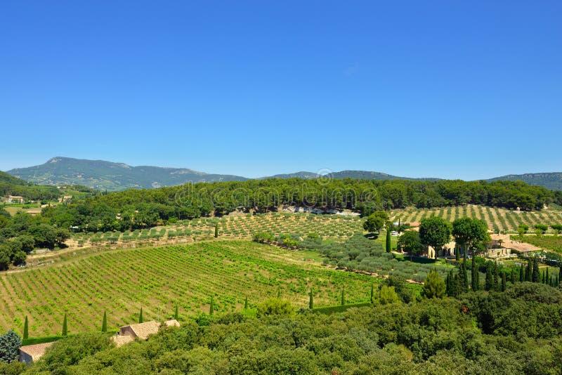 Ländliche Landschaft Provence stockbild