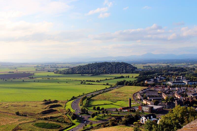 Ländliche Landschaft, Stirling lizenzfreies stockbild