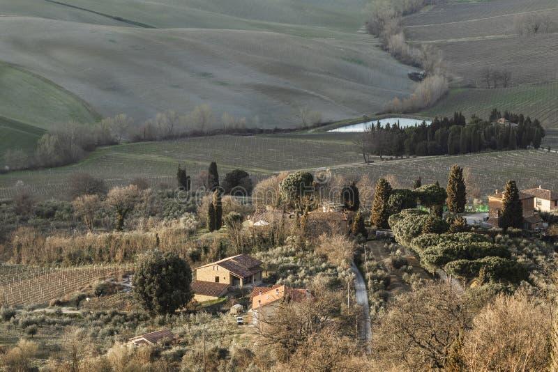 Ländliche Landschaftslandschaft in Toskana, Italien stockfoto