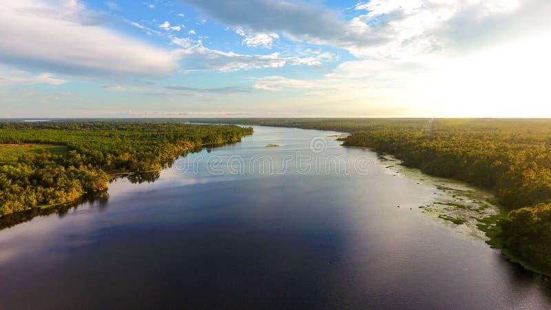 Ländlicher Alabama See stockfotografie