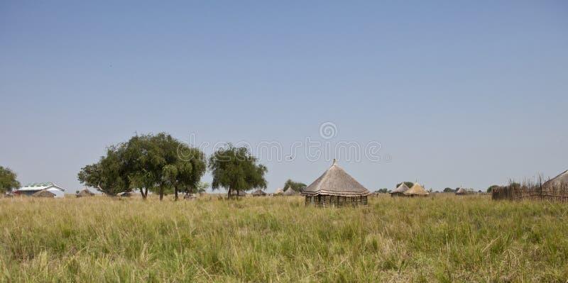 Ländliches Dorf in Süd-Sudan stockbilder