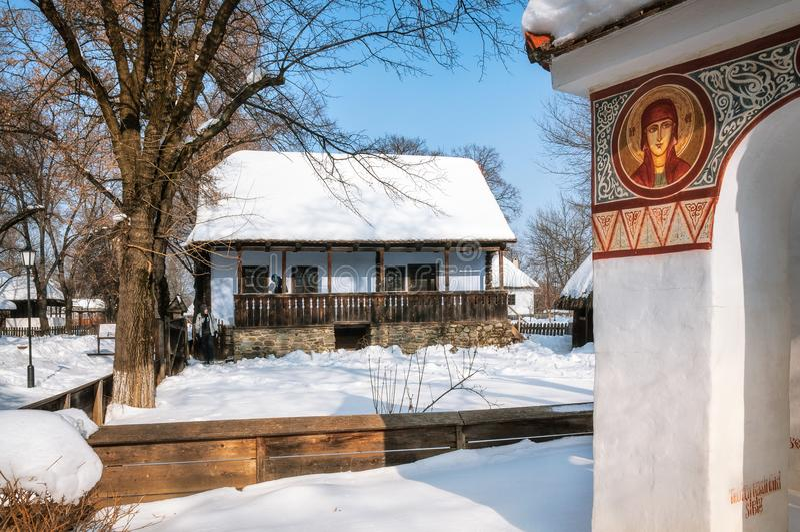 Ländliches Erbe am Dorf Museum in Bukarest, Rumänien lizenzfreie stockfotografie