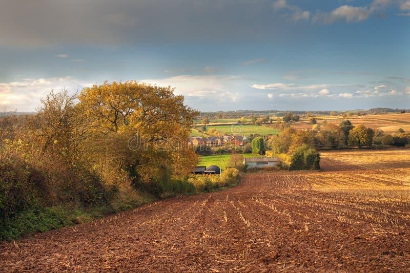 Ländliches Worcestershire stockbilder