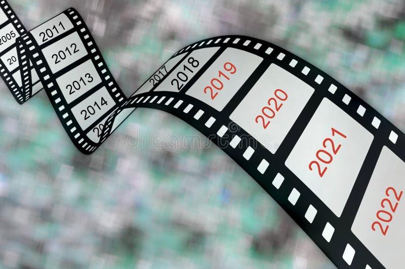 Längd i fot räknat från filmen av liv arkivbild