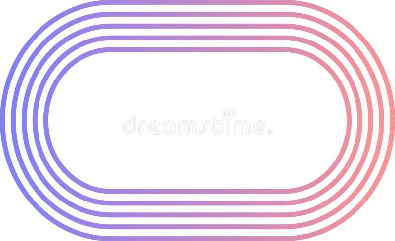 Längliches Logo ausgerichtet lizenzfreie stockfotos