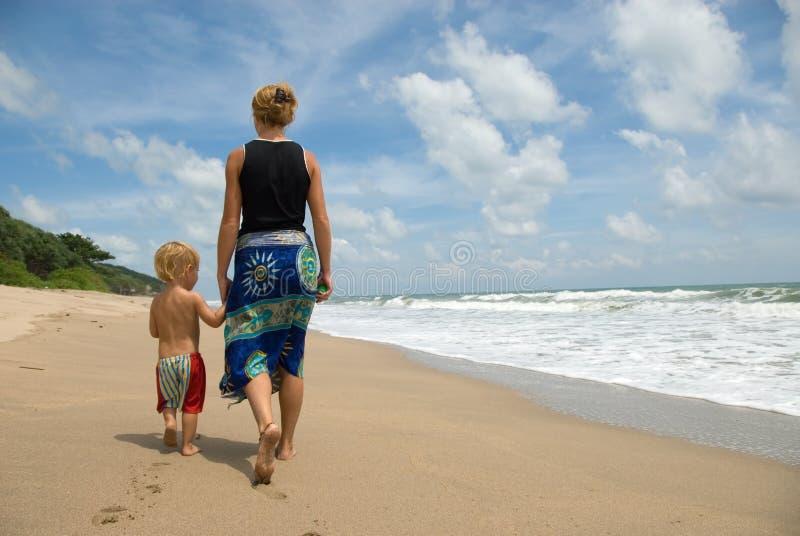 längs att gå för strand arkivbilder